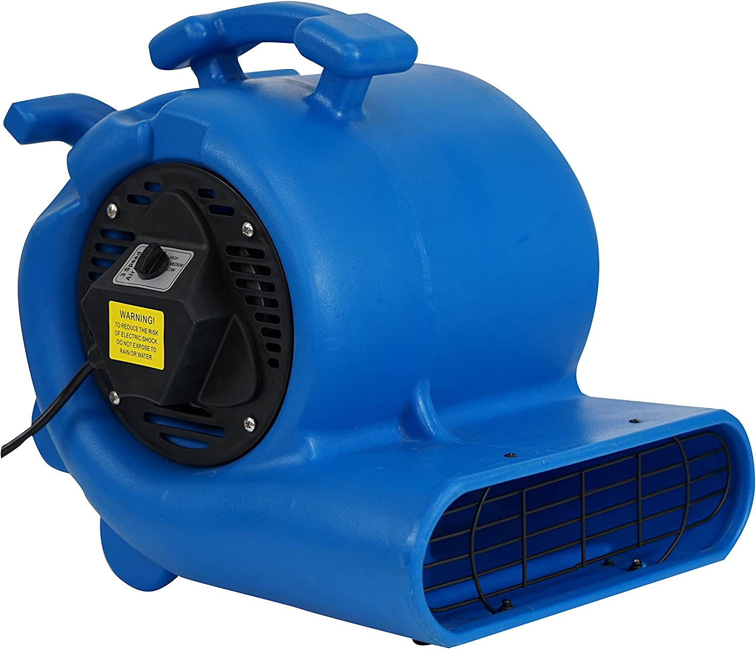MOUNTO 3-Speed 3 4HP 3000CFM Air Mover Floor Carpet Dryers Blue