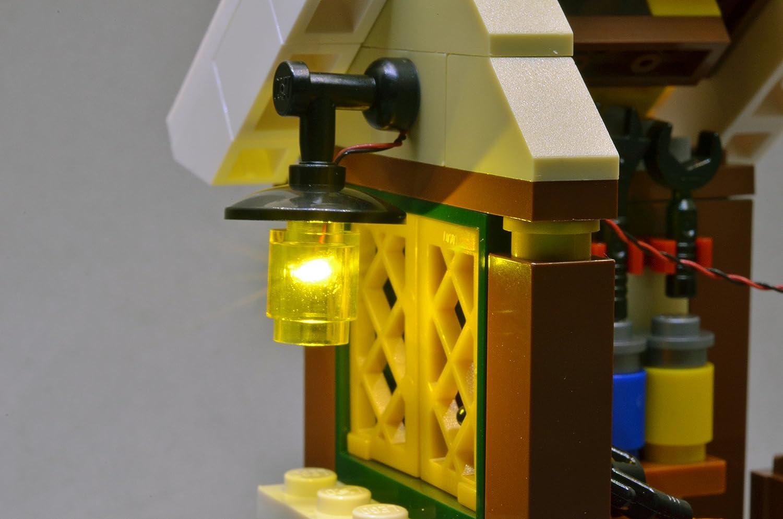 Brickstuff pico led luce tavola board starter kit per lego edifici