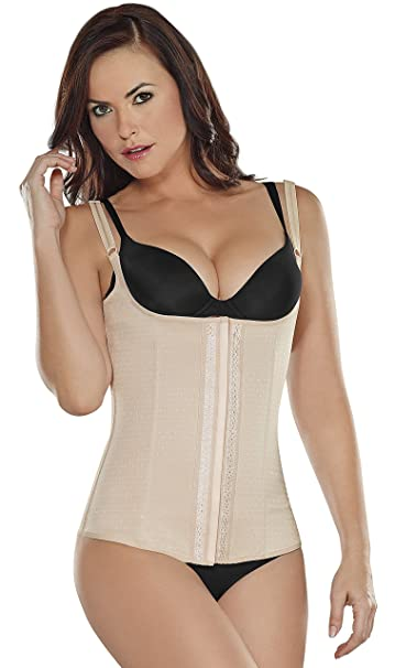 28ec0e34eb02a Amazon.com  ShapEager Body Shaper Shapewear Miracle Vest Firm Compression  Cotton Rubberflex Black  Clothing