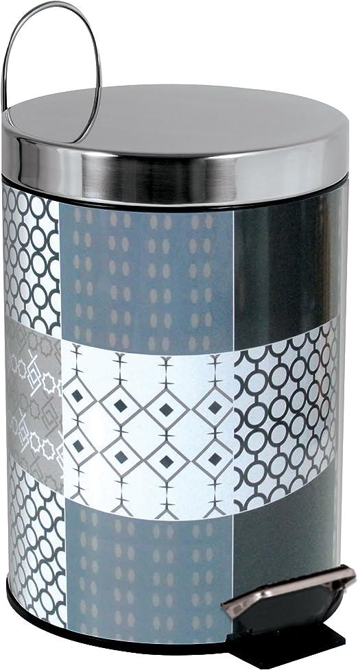 MSV Brest Cubo de Basura Decorado 25 x 17 cm Azul