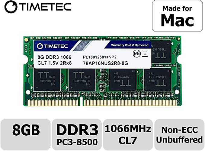 Timetec Hynix IC compatible with Apple 8GB DDR3 PC3-8500 1066MHz ...