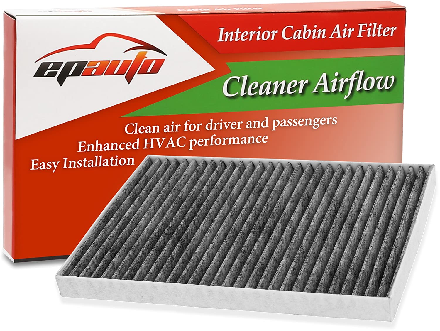 EPAuto CP179 (CF179C) Replacement for Toyota/GMC/Buick/Saturn Premium Cabin Air Filter includes Activated Carbon FC-015-1