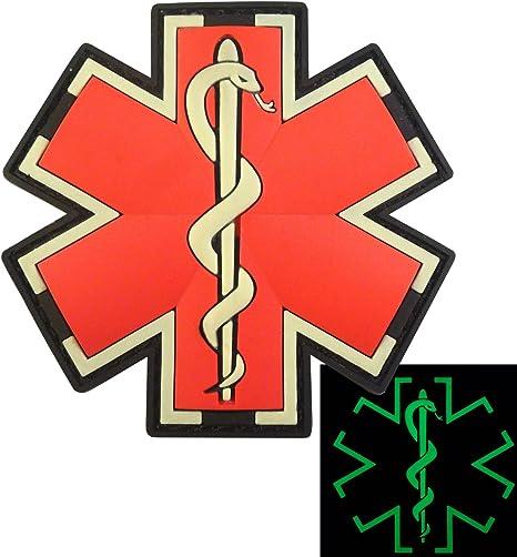 2AFTER1 Olive Drab Multicam OD EMS EMT Medic Paramedic Star of Life Morale PVC Hook/&Loop Patch