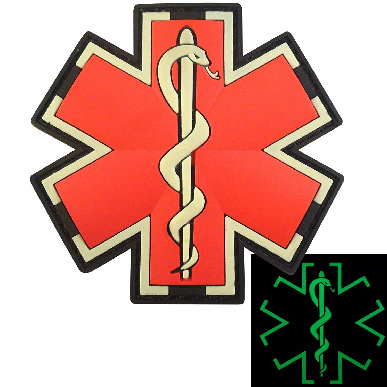 Sanitäter symbol  Glow Dark EMS EMT Medic Sanitäter Paramedic Star of Life Morale ...
