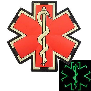 Glow Dark EMS EMT Medic Sanitäter Paramedic Star of Life Morale ... | {Sanitäter symbol 42}