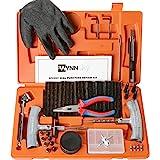 WYNNsky Heavy Duty Tire Repair Tools Kit - 60 Pcs Set Truck Tool Box for Motorcycle, ATV, Jeep, Truck, Tractor Flat Tire…