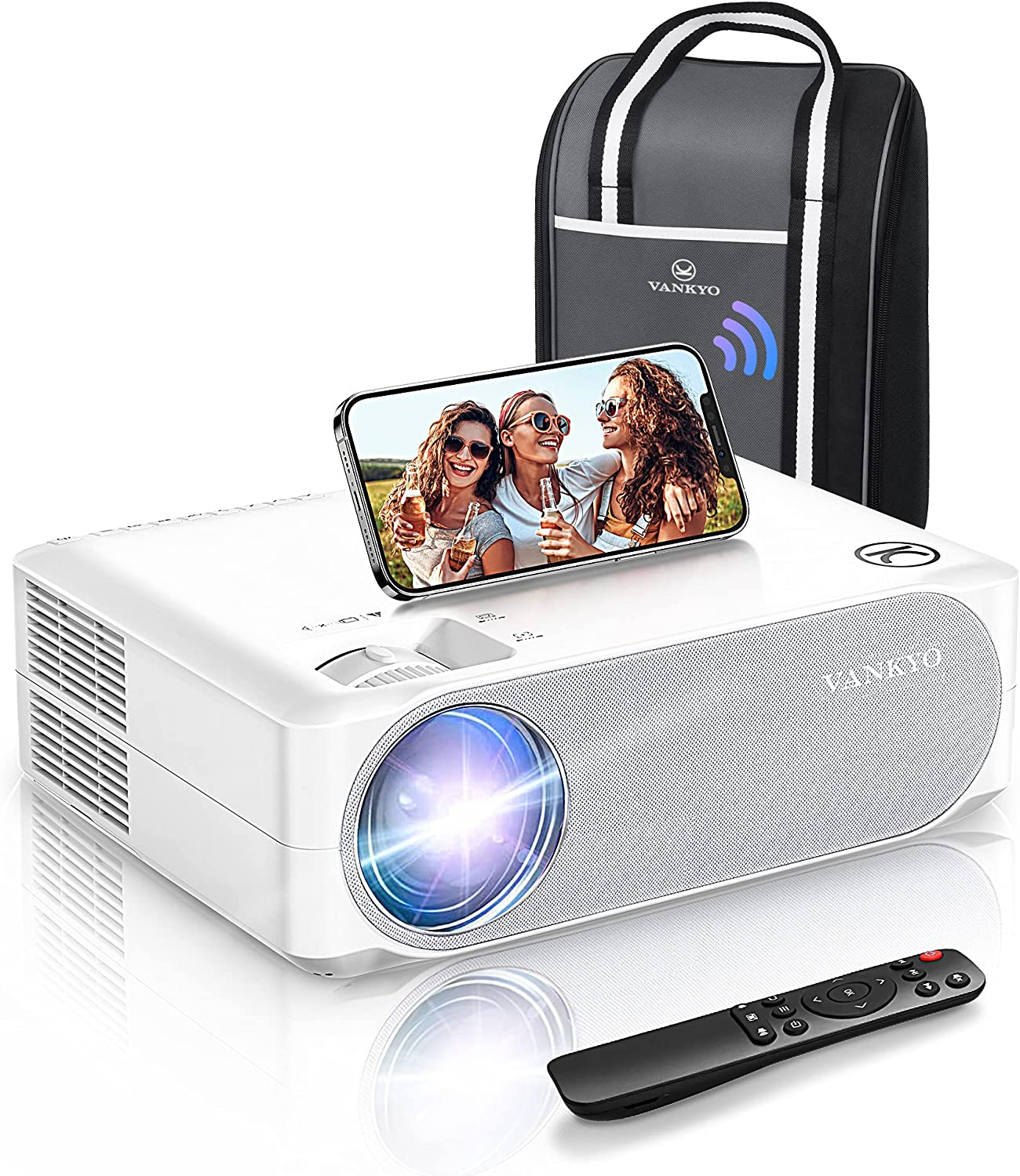 VANKYO 2021 Upgraded 5G WiFi Video Projector, HD Home Projector w/ 1080P 300