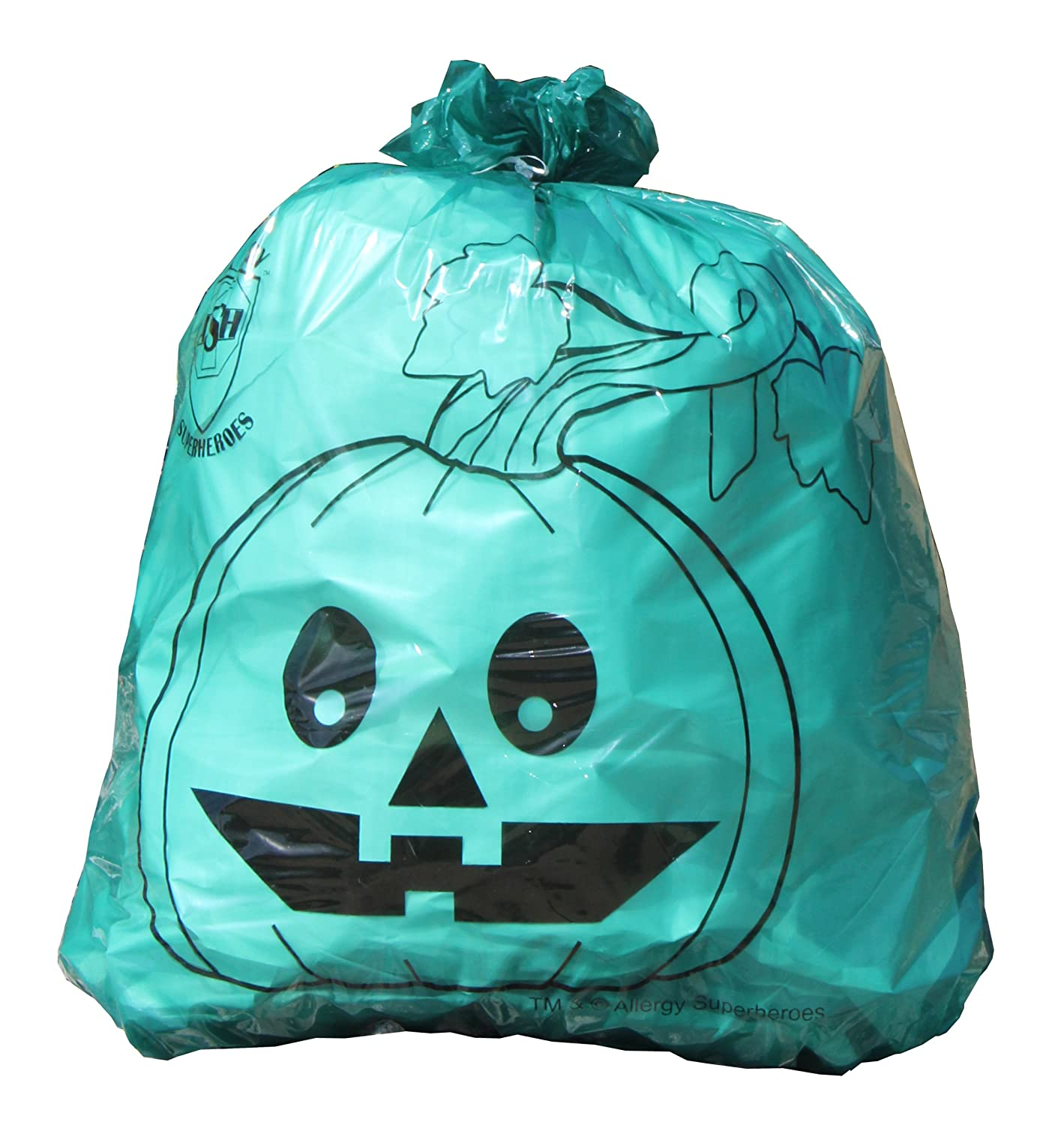 Teal Pumpkin Leaf Bags Allergy Superheroes