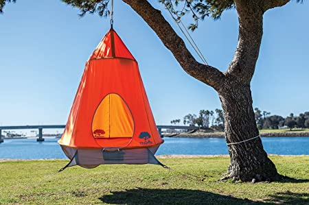 Amazon.com TreePod Original Hanging Backyard Tree House Tangerine Toys u0026 Games & Amazon.com: TreePod Original Hanging Backyard Tree House ...