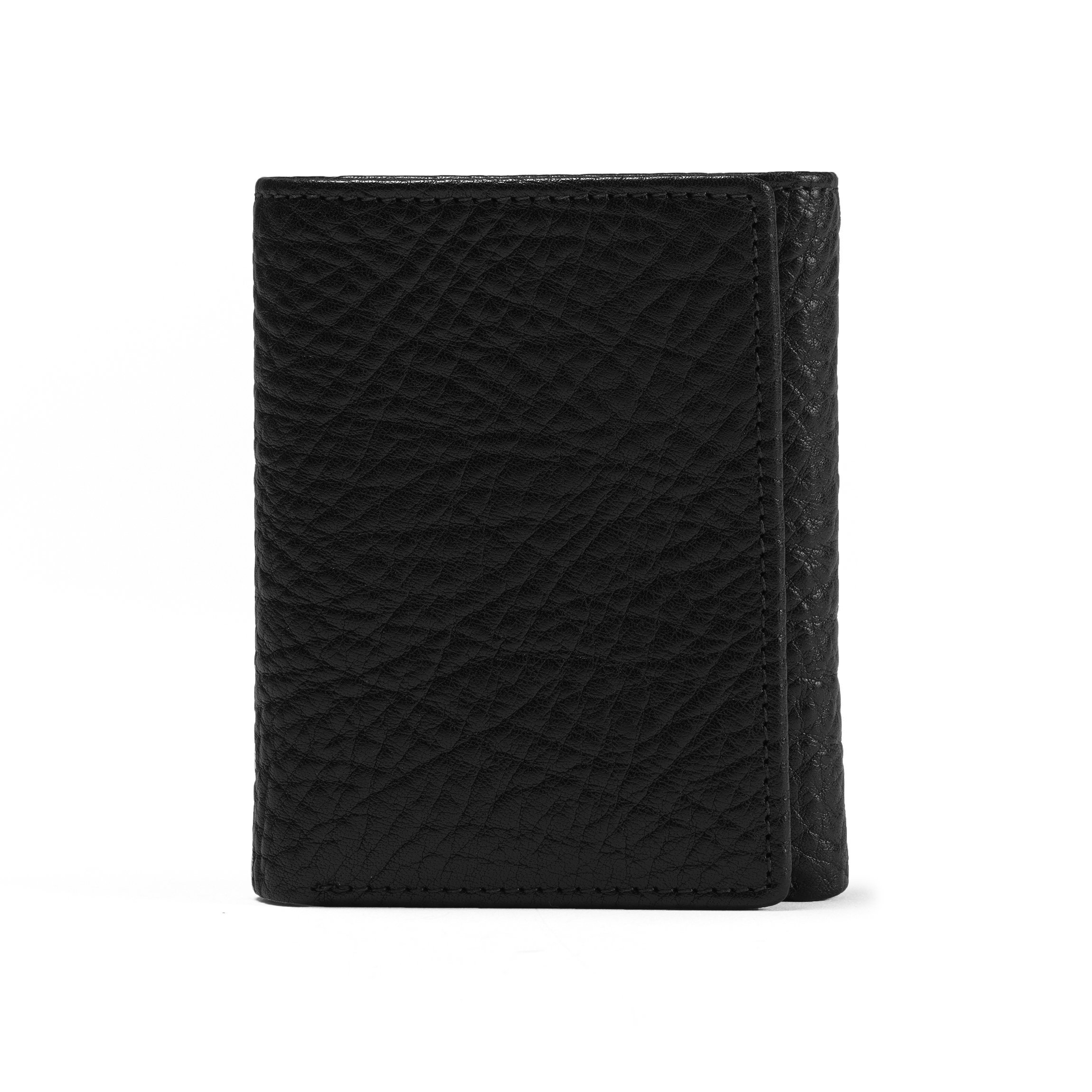 Trifold with Card Wallet - Full Grain Italian Leather Leather - Ebony (black) by Leatherology (Image #6)