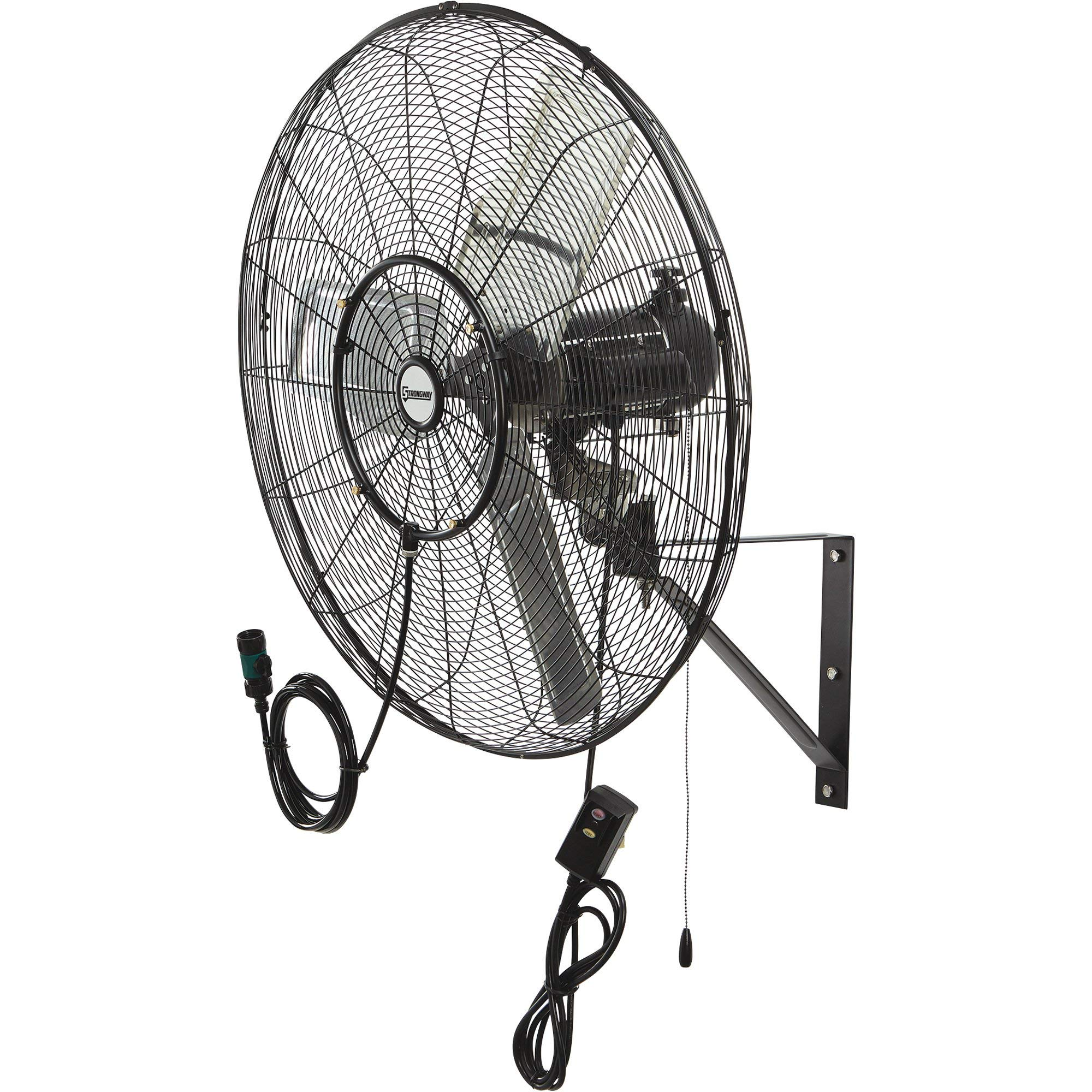 Strongway Outdoor Wall-Mount Misting Fan - 30in. 7200 CFM by Strongway