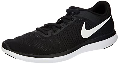 a1936edfc40b Nike Mens Flex 2016 RN Black White Cool Grey Running Shoe 8 Men US