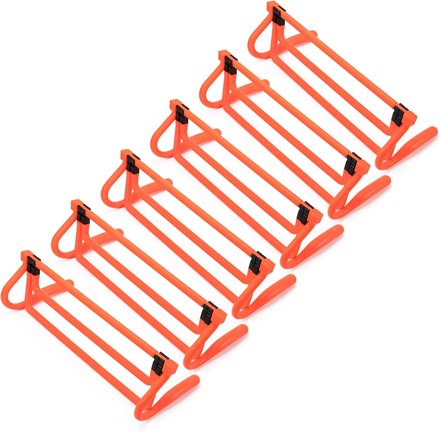 6-Pack of Agility Hurdles with Adjustable Height Extenders – Neon Orange Set & Carry Bag – Plyometric Fitness & Speed Training Equipment – Hurdle/Obstacles for Soccer, Football, Track & Field & More : Sports & Outdoors