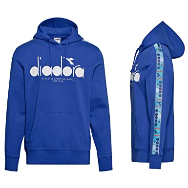 bf8567a16c Diadora Men's Hoodie 5Palle Offside Blue at Amazon Men's Clothing store: