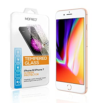 23702eb4d MOFRED® iPhone 8   iPhone 7  4.7 inch  Bestseller Tempered Glass  Shatterproof Screen