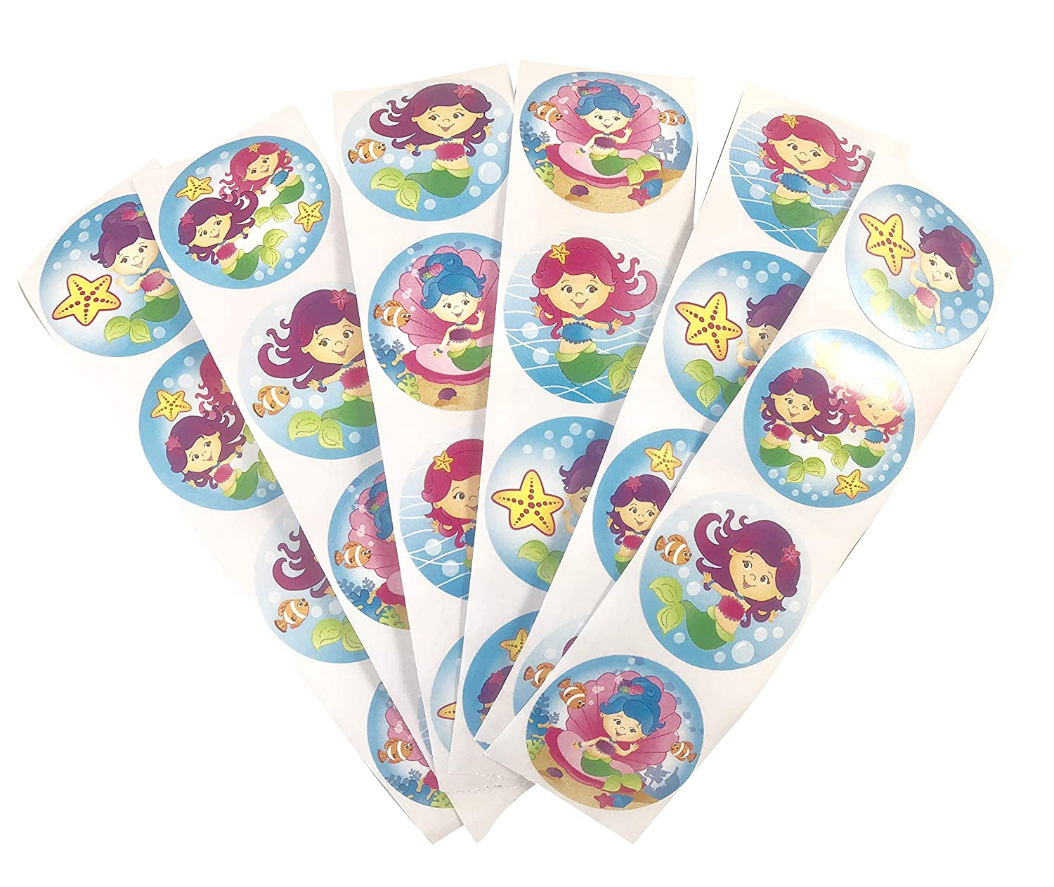 Mermaid Pencils Stickers Mermaid Beach Ball Glitter Note Pad Mermaid Birthday Party Favors and Supplies Complete Under the Sea kit for 6 Little Guests Including Bag Mermaid Slap Bracelet and Bubbles Hippo Entertainment