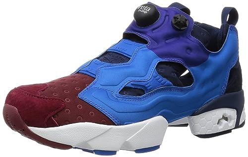 Zapatillas Reebok - Instapump Fury Asym burdeos/azul talla: 44,5: Amazon.es: Zapatos y complementos