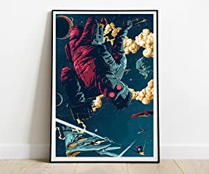 Poster Compatible With Guardians of the Galaxy Art, Cyberpunk for Walls, Unframed Posters Print, Cool Home Decor, Unique Design, Wall Art Decor for Room