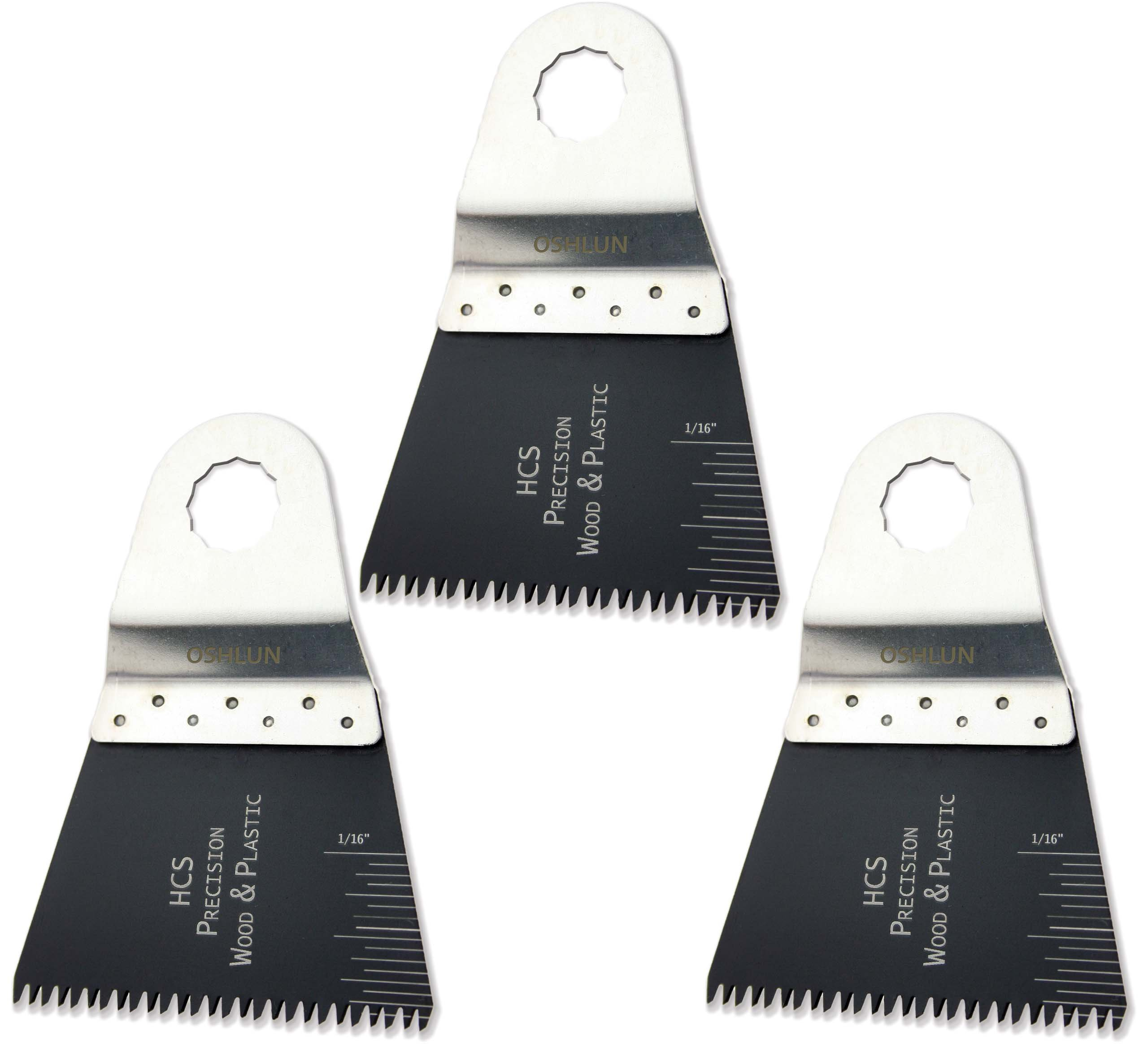 Oshlun MMR-1103 2-2/3-Inch Precision Japan HCS Oscillating Tool Blade for Rockwell SoniCrafter, 3-Pack