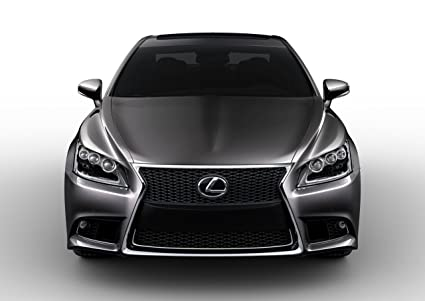 Lexus LS 460 F Sport (2013) Car Art Poster Print On 10 Mil