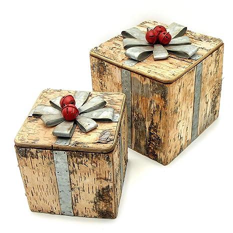 Angelica Home Country Caja Decorativa Para árbol De