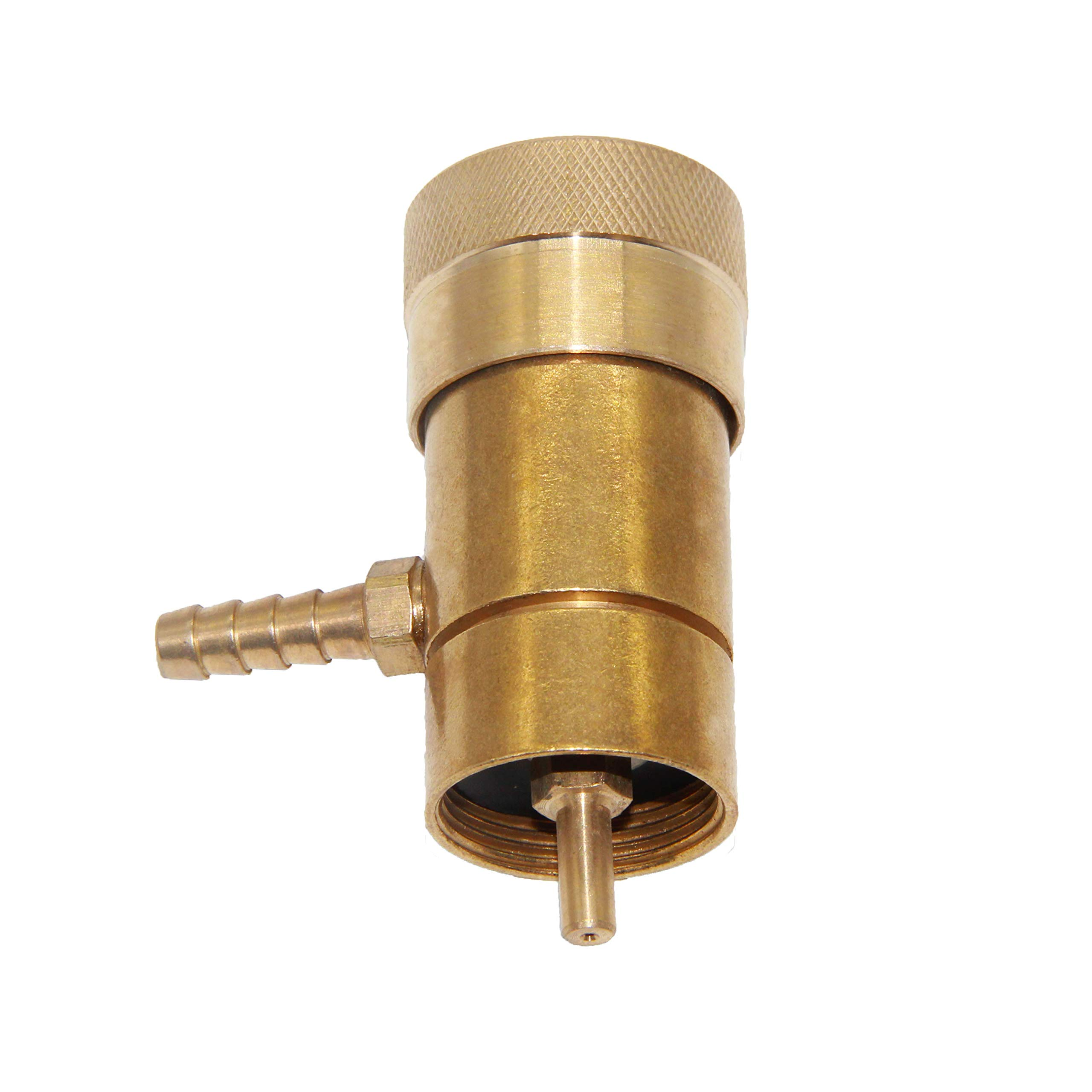 Joywayus Solid Brass Oxygen Regulator Tank Valve Fit Disposable Tanks with Barb Fitting by Joywayus