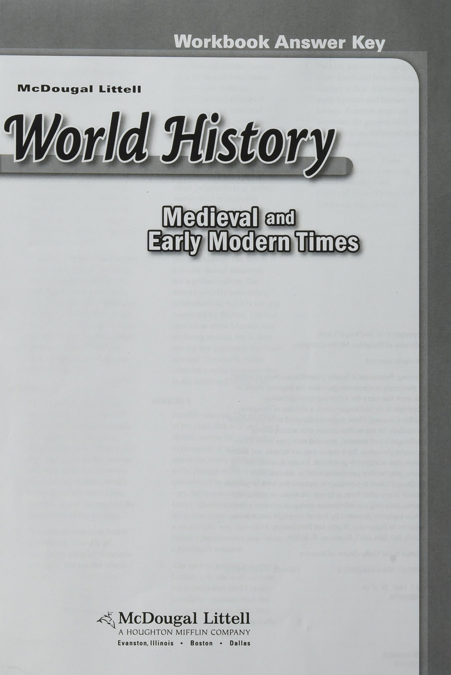 McDougal Littell World History: Medieval and Early Modern ...
