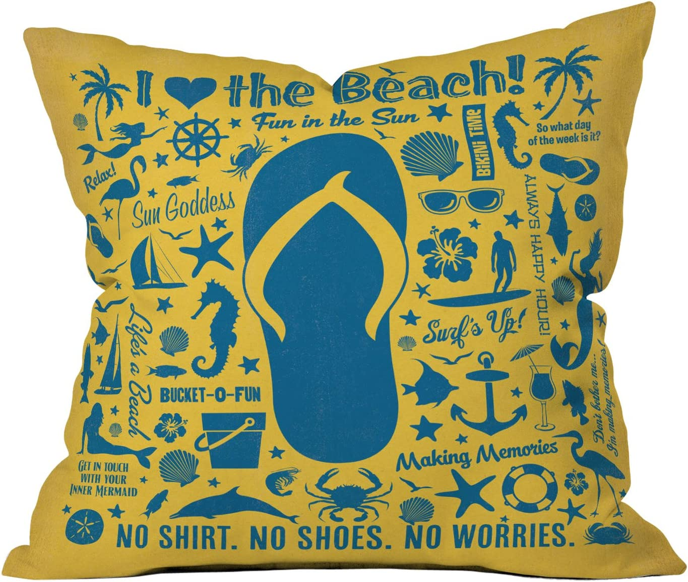 Deny Designs Anderson Design Group Flip Flop Pattern Throw Pillow, 26 x 26