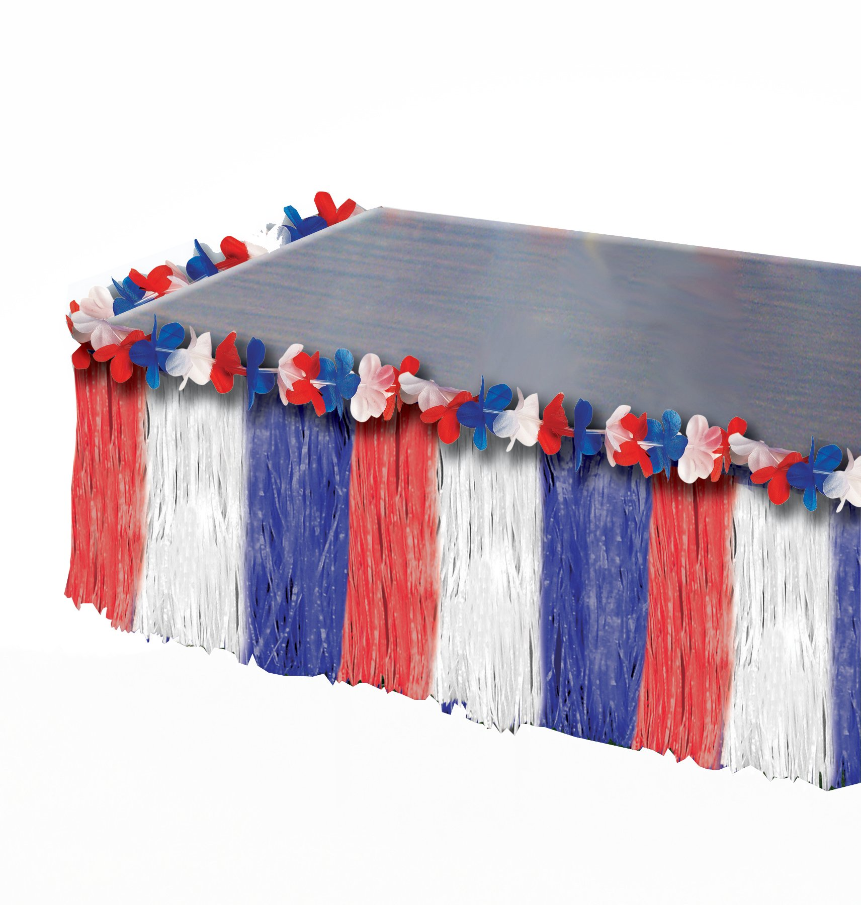 Forum Novelties July 4th Independence Day Red White Blue America Patriotic Table Skirt