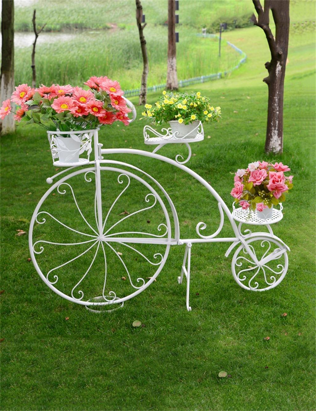 KKC Mensola vaso di fiori Europea Creativo Grande Bike Rack Fiore Flower Pot Shelf Ferro Soggiorno Balcone Flower Shop Vasi Shelf (Dimensioni   137  100cm)