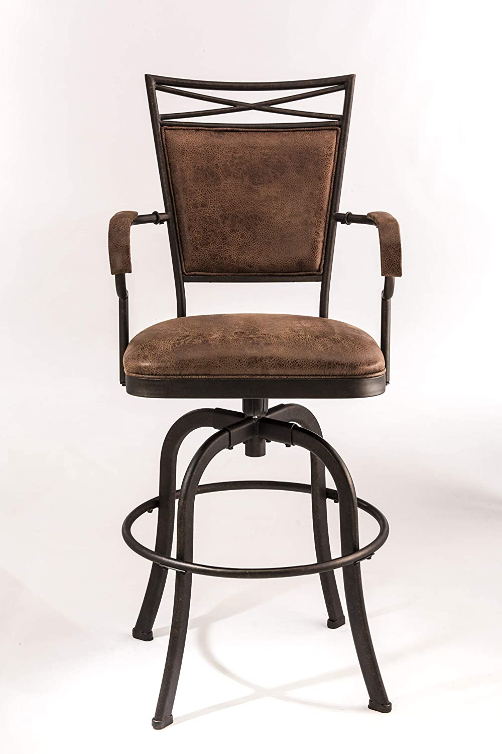 Hillsdale Bridgetown Swivel Tilt Barstool, Aged Bronze Finish