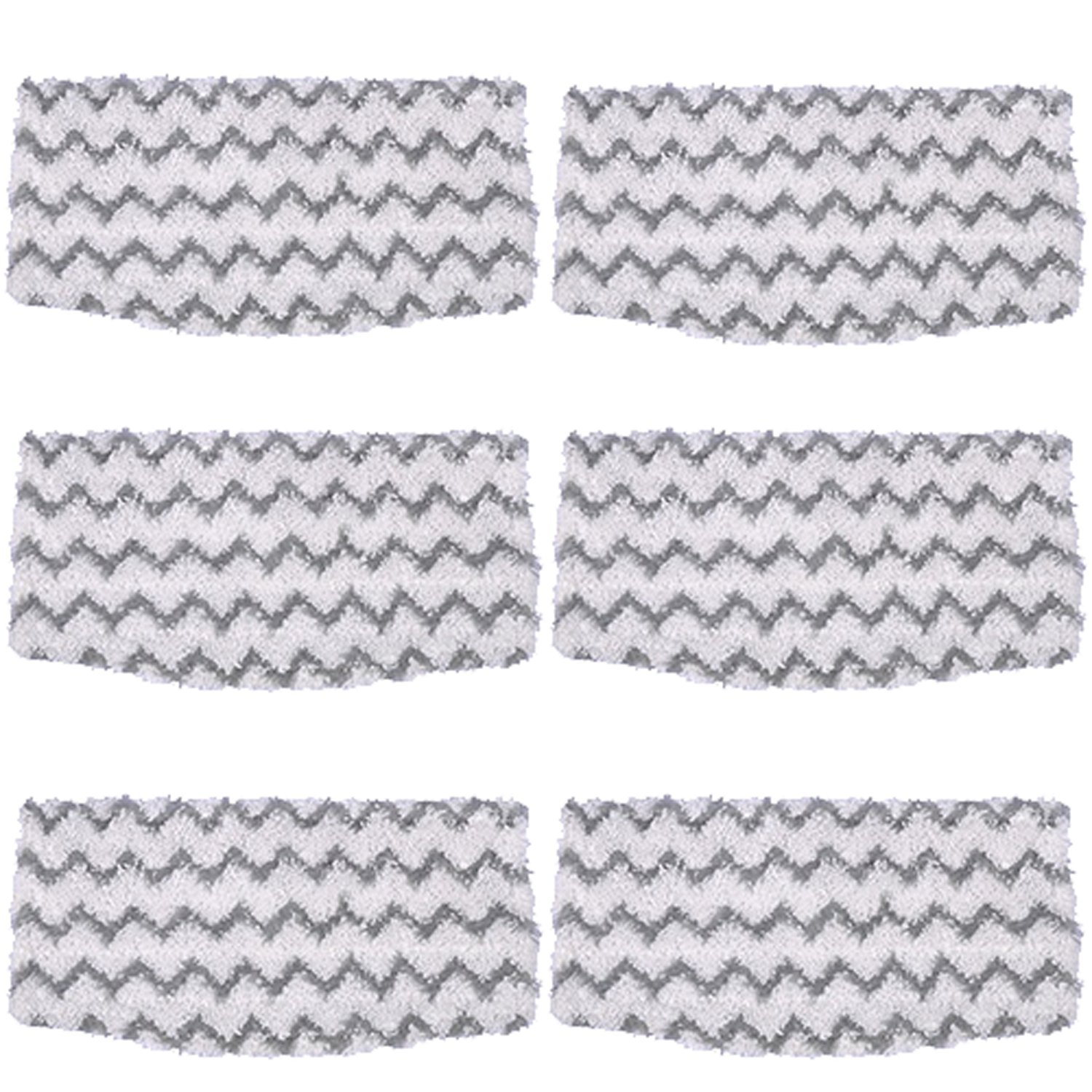 Amyehouse 6 Packs Dirt Grip Microfiber Pads Replacement for Shark Steam Mop S1000 S1000A S1000C S1000WM S1001C Vacuum Cleaners
