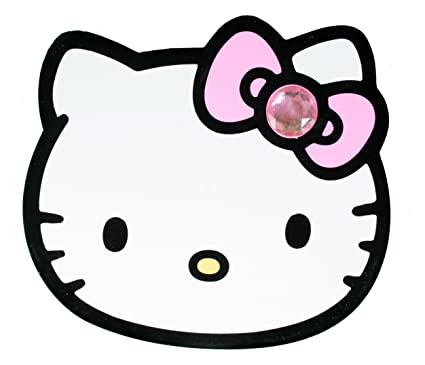 a82fc737f Image Unavailable. Image not available for. Color: Hello Kitty Die Cut Big  Face White Pink Jewelry Box ...