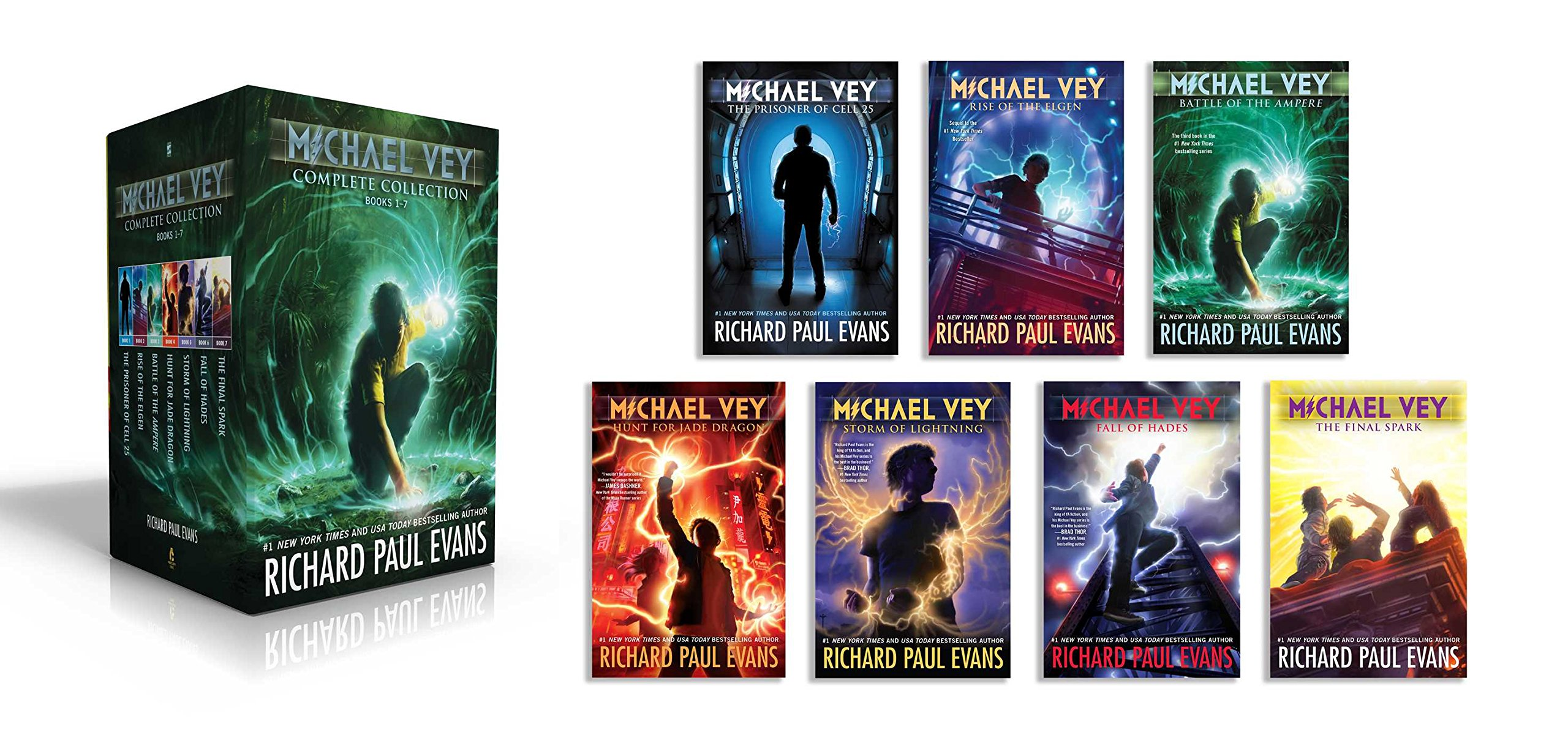 Michael Vey Complete Collection Books 1-7: Michael Vey; Michael Vey 2; Michael Vey 3; Michael Vey 4; Michael Vey 5; Michael Vey 6; Michael Vey 7 by Simon Pulse/Mercury Ink