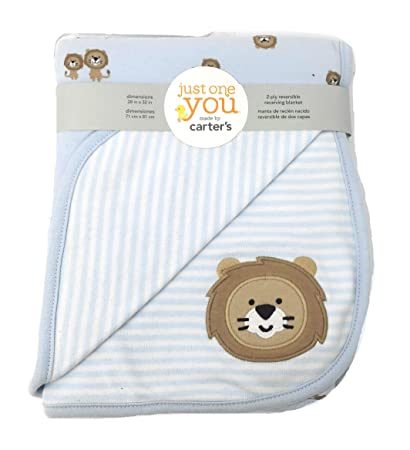 Just One You by Carters 2-Ply reversible receiving blanket (Lion)