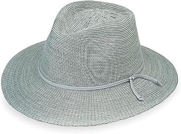 9ef309bb Wallaroo Hat Company Women's Victoria Fedora Sun Hat - UPF 50+, Modern  Style,