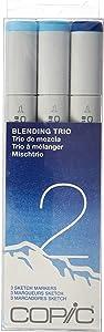 Copic Marker Sketch Blending Trio Markers, SBT 2, 3-Pack (SBT-2)