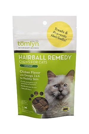 tomlyn Natural Hairball Remedy - Chucherías para Gatos, (laxatone) 60 - Chucherías: Amazon.es: Productos para mascotas