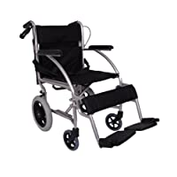 Lightweight Folding Transit Travel Wheelchair Fold Down Handles Net Carry Weigth Only 7 KG