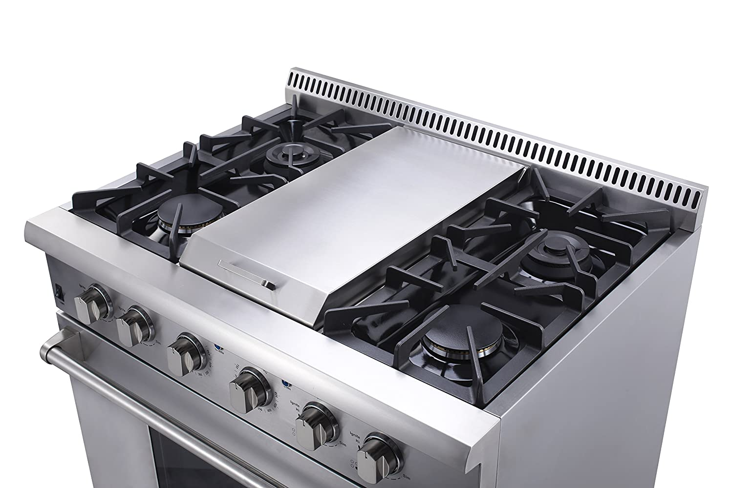 gas cooktop with grill. Amazon.com: Thorkitchen HRG3617U 36\ Gas Cooktop With Grill