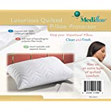 Mediflow Quilted Pillow Protector: Get Zippered Protection from dust and allergens and add a Layer of Luxury and Comfort to Any Pillow