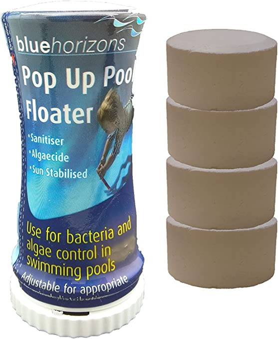 4 x 20 g, tabletas en una piscina Dispensador cloro Hot Tub Pop Up hinchable: Amazon.es: Jardín