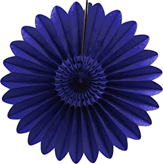 product image for 3-Pack 27 Inch Extra-Large Honeycomb Tissue Paper Party Fanburst Decoration (Navy Blue)