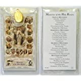 Mysteries of the Rosary ~ Card and Medal