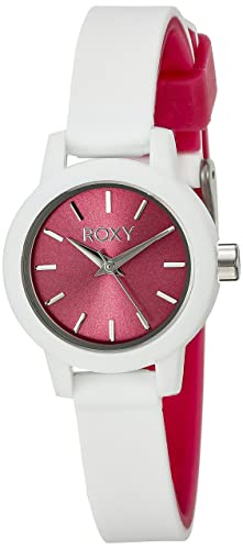 b560c5f8aa Roxy Women s RX 1016PKWT The Monica Pink and White Watch with Silicone Strap