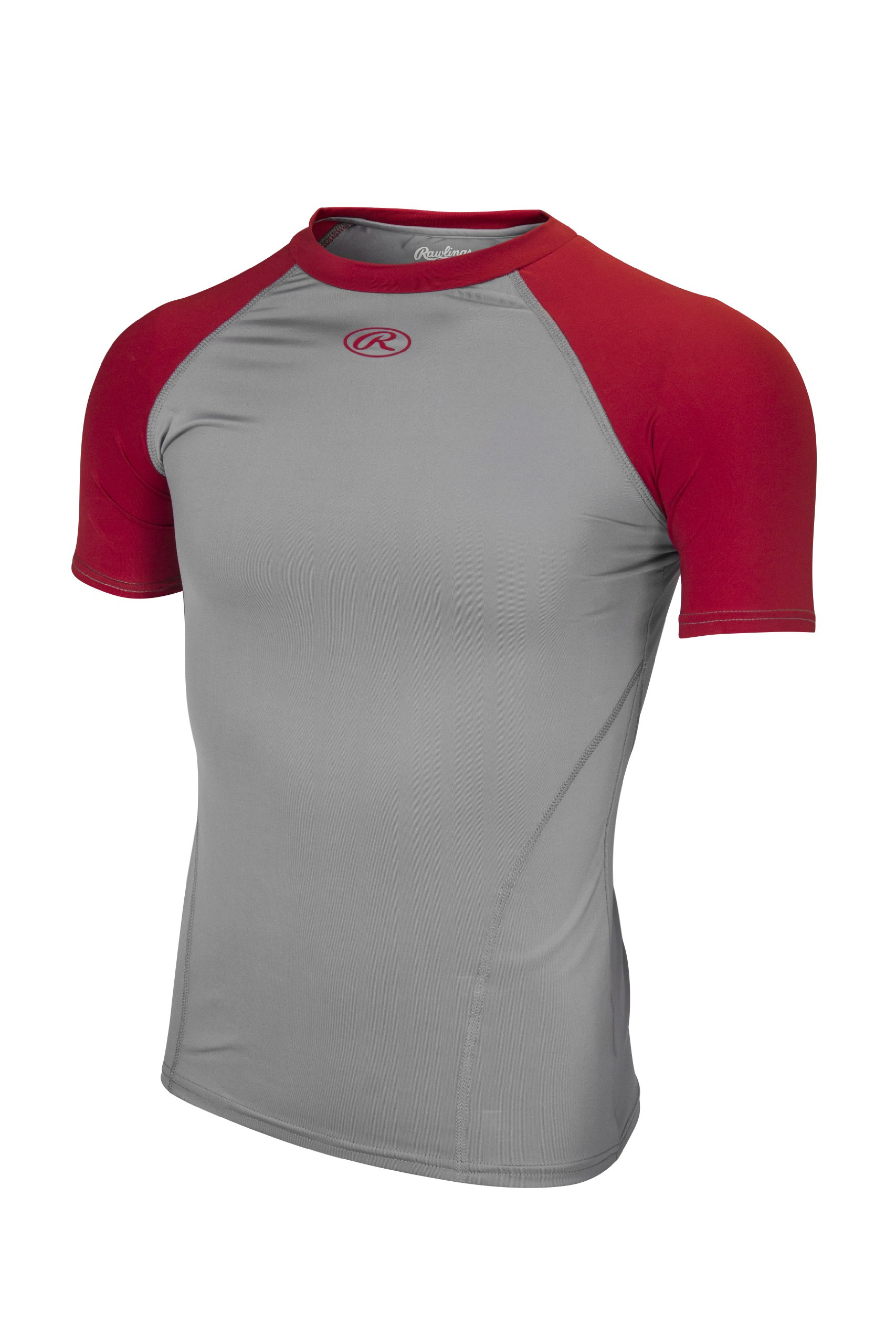 Rawlings Youth Compression Tee, Scarlet, X-Large