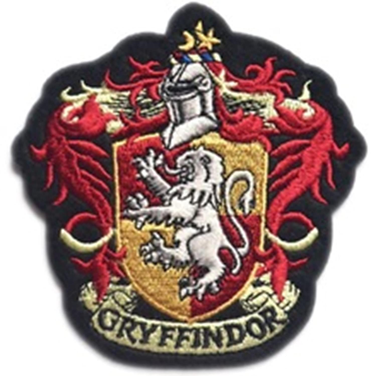 J& C Family Owned Harry Potter Gryffindor House Crest Hogwart 4 Embroidered Sew/Iron-on Patch/Applique