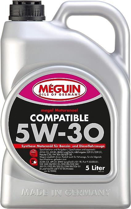 Meguin 6562 Megol Aceite del Motor Compatible SAE 5W-30, 5 litros ...
