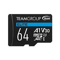 Team 64GB Elite microSDXC UHS-I U3 4K UHD Memory Card