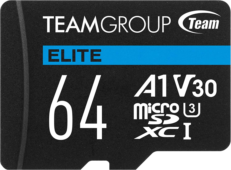 Flash Card Micro Sd 64gb Xc Team Elite A1 V30 Computers Accessories
